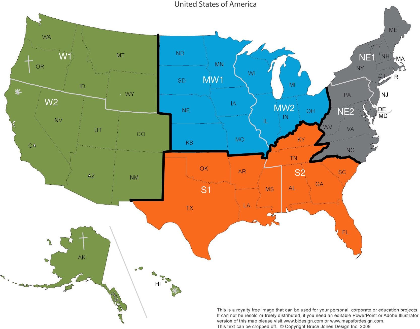 SOMSA Regions Map